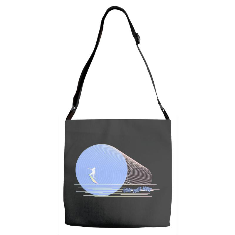 Surfing Boy Abstract Adjustable Strap Totes | Artistshot