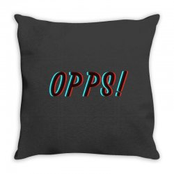 opps glitch Throw Pillow | Artistshot