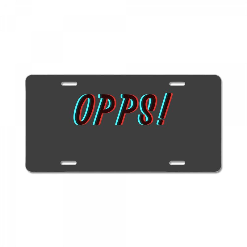 Opps Glitch License Plate | Artistshot