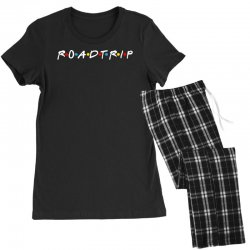roadtrip friends parody for dark Women's Pajamas Set | Artistshot