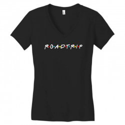 roadtrip friends parody for dark Women's V-Neck T-Shirt | Artistshot