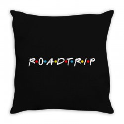 roadtrip friends parody for dark Throw Pillow | Artistshot