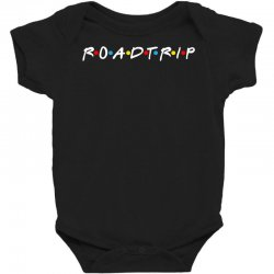 roadtrip friends parody for dark Baby Bodysuit | Artistshot
