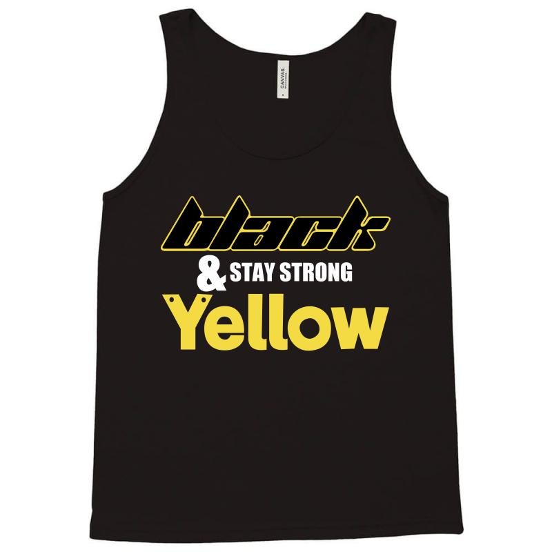 Black And Stay Strong Yellow Tank Top | Artistshot