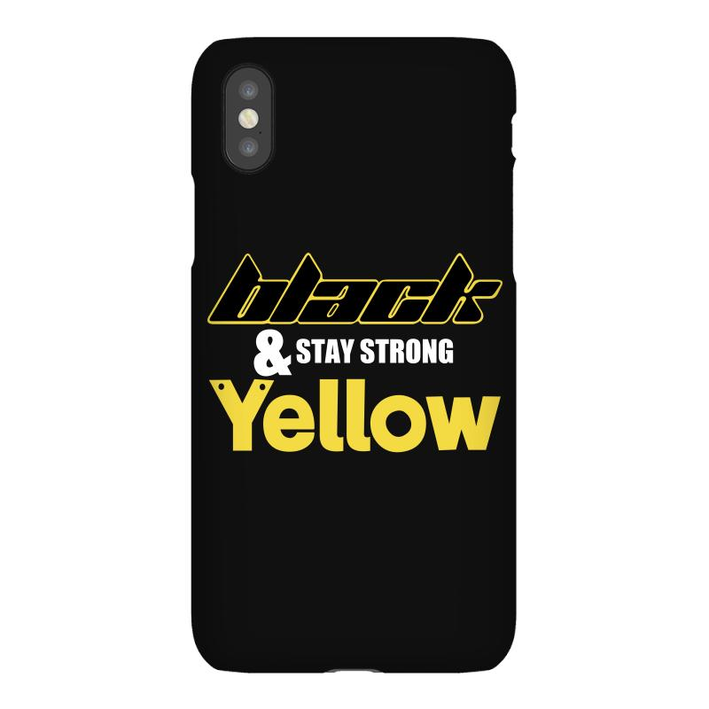 Black And Stay Strong Yellow Iphonex Case | Artistshot