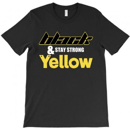 Black And Stay Strong Yellow T-shirt Designed By Bamboholo