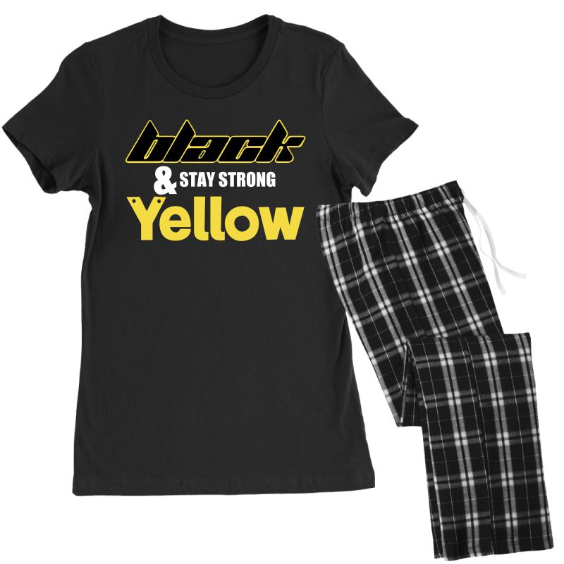 Black And Stay Strong Yellow Women's Pajamas Set | Artistshot