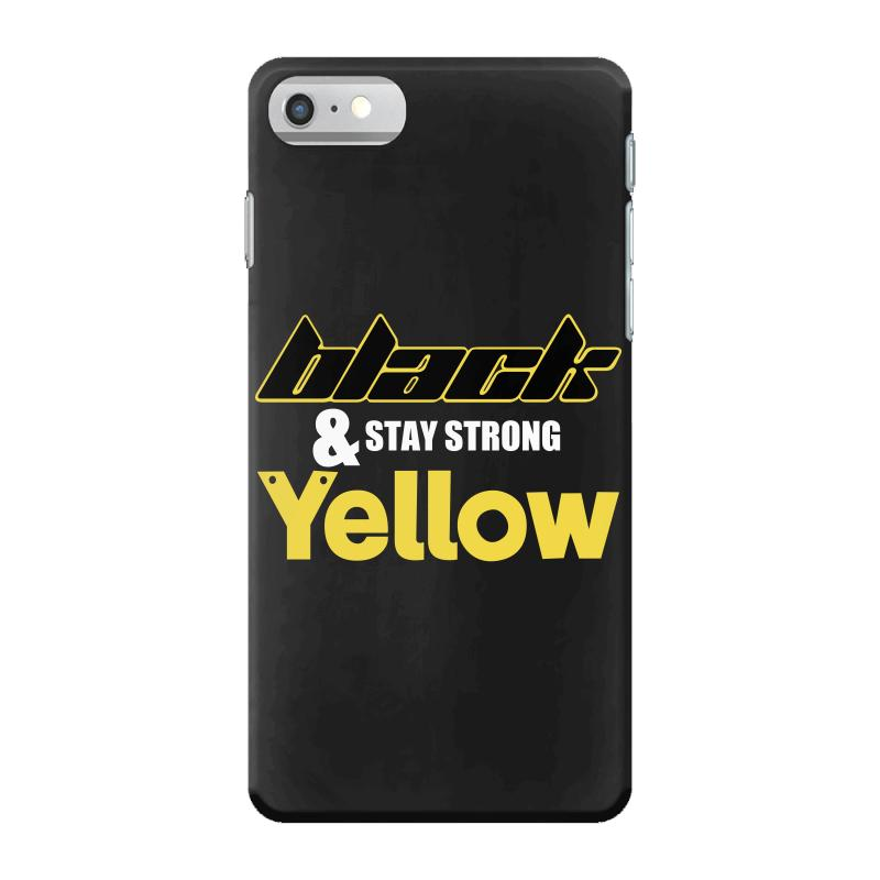 Black And Stay Strong Yellow Iphone 7 Case | Artistshot