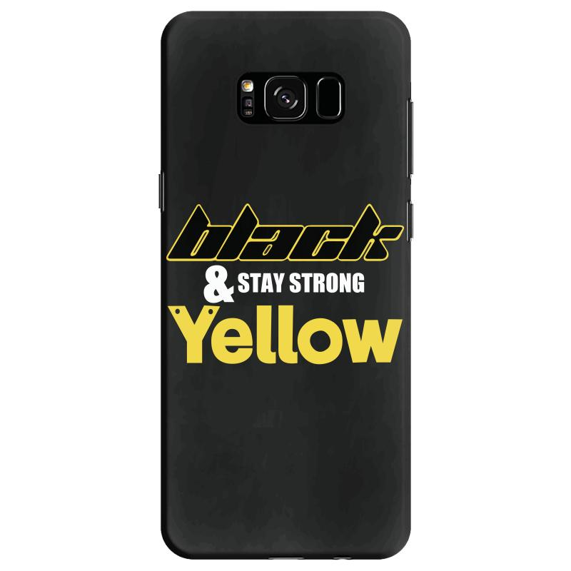Black And Stay Strong Yellow Samsung Galaxy S8 Case | Artistshot