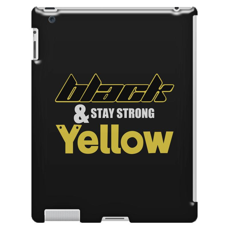 Black And Stay Strong Yellow Ipad 3 And 4 Case | Artistshot