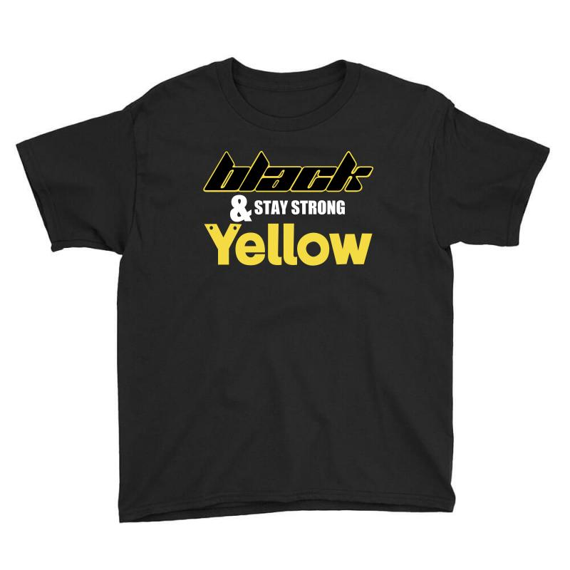 Black And Stay Strong Yellow Youth Tee | Artistshot