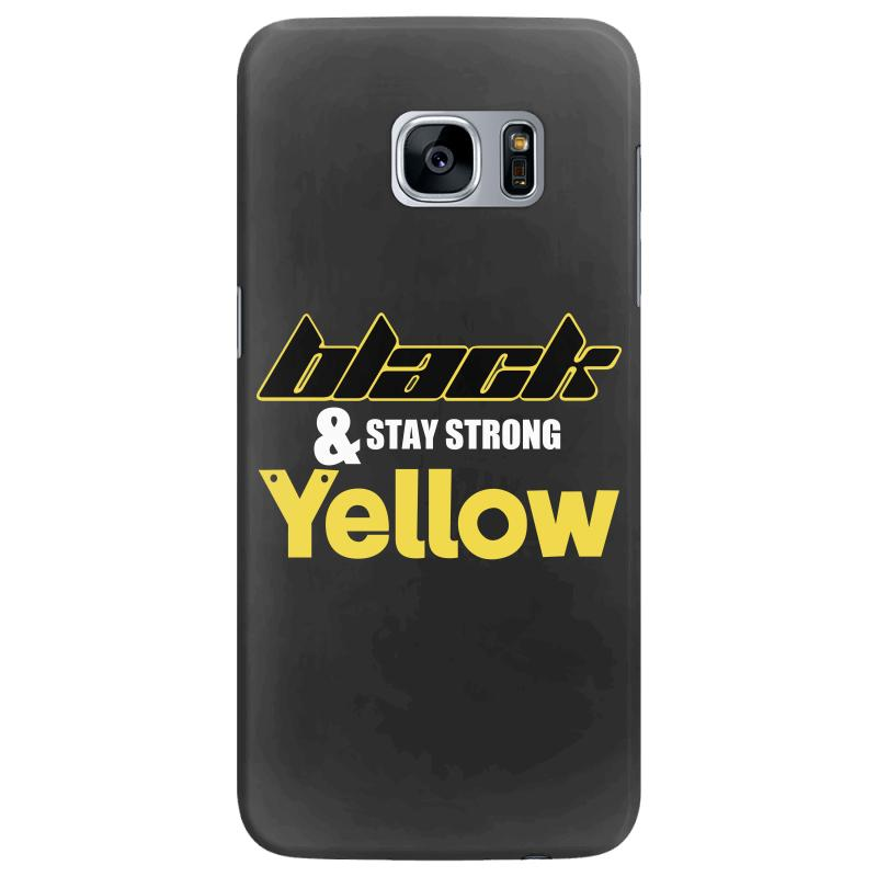 Black And Stay Strong Yellow Samsung Galaxy S7 Edge Case | Artistshot