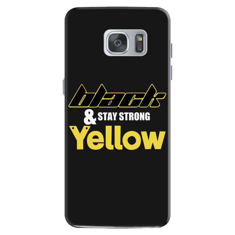 Black And Stay Strong Yellow Samsung Galaxy S7 Case | Artistshot