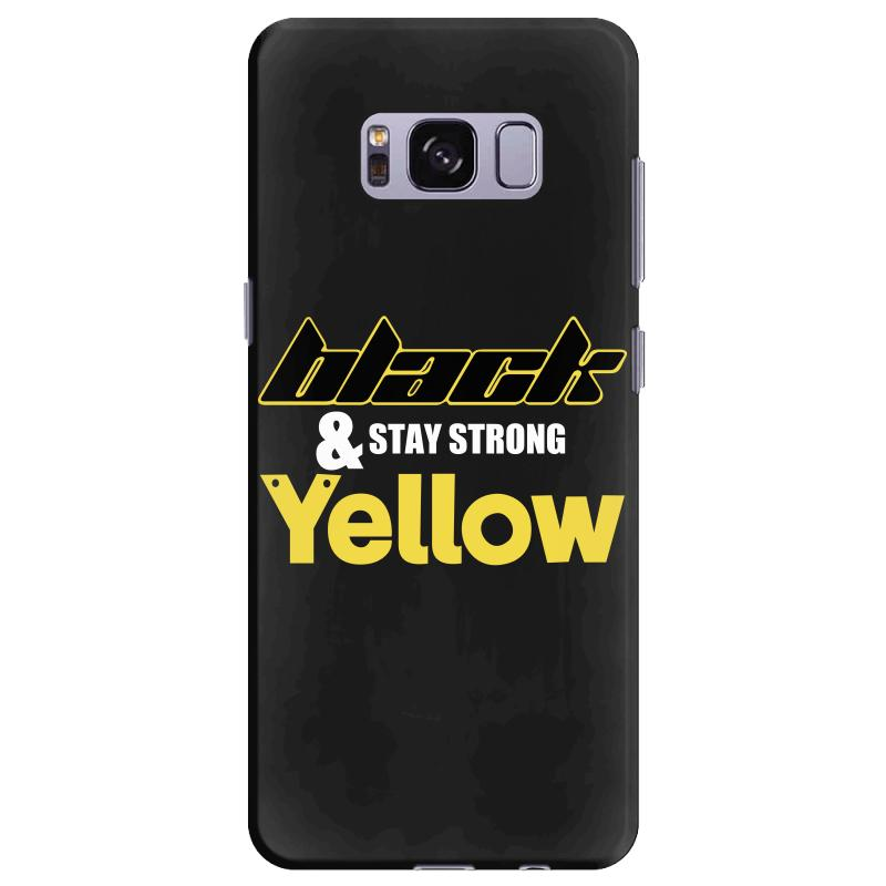 Black And Stay Strong Yellow Samsung Galaxy S8 Plus Case | Artistshot