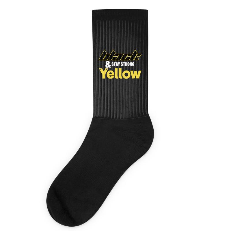 Black And Stay Strong Yellow Socks | Artistshot