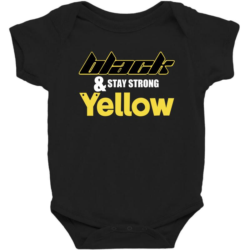 Black And Stay Strong Yellow Baby Bodysuit | Artistshot