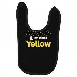 black and stay strong yellow Baby Bibs | Artistshot