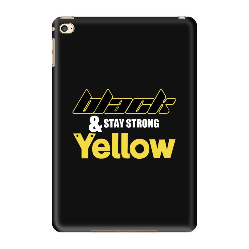 Black And Stay Strong Yellow Ipad Mini 4 Case | Artistshot