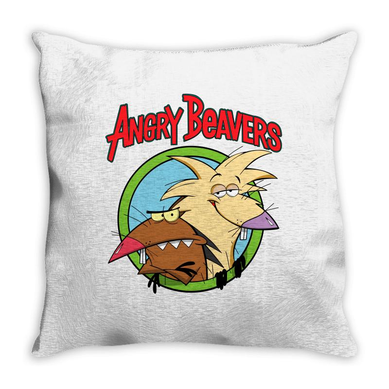 Angry Beavers Throw Pillow | Artistshot