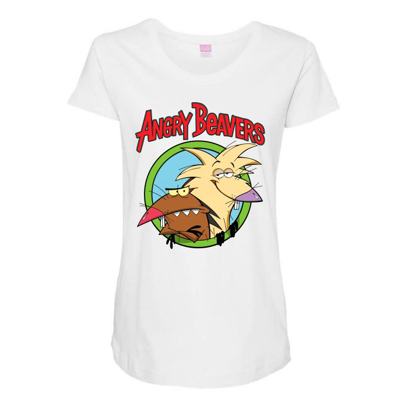 Angry Beavers Maternity Scoop Neck T-shirt | Artistshot