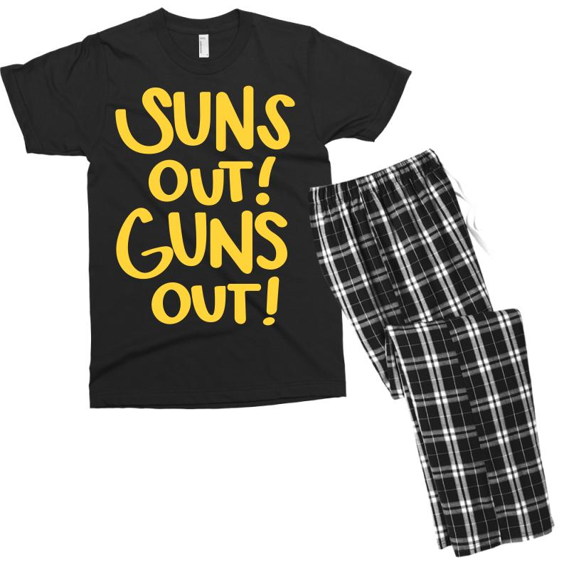 Sun's Out Guns Out Men's T-shirt Pajama Set | Artistshot