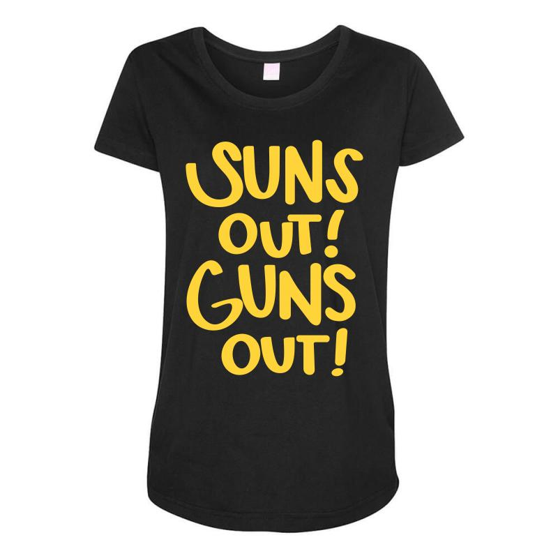 Sun's Out Guns Out Maternity Scoop Neck T-shirt | Artistshot