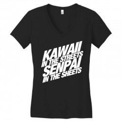 kawaii in the streets senpai in the sheets Women's V-Neck T-Shirt | Artistshot