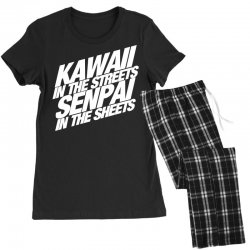 kawaii in the streets senpai in the sheets Women's Pajamas Set | Artistshot