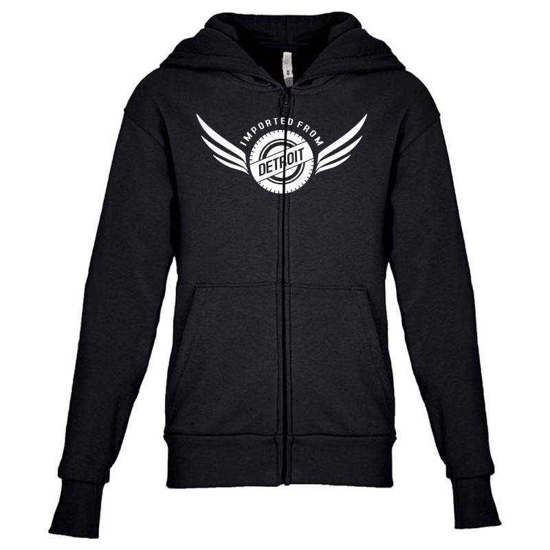 Imported From Detroit Chrysler Youth Zipper Hoodie | Artistshot