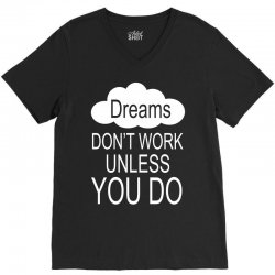 don't work unless you do V-Neck Tee | Artistshot