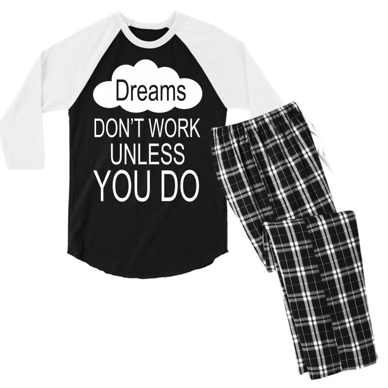 Don't Work Unless You Do Men's 3/4 Sleeve Pajama Set | Artistshot