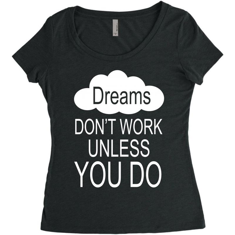 Don't Work Unless You Do Women's Triblend Scoop T-shirt | Artistshot