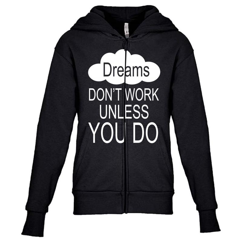 Don't Work Unless You Do Youth Zipper Hoodie | Artistshot