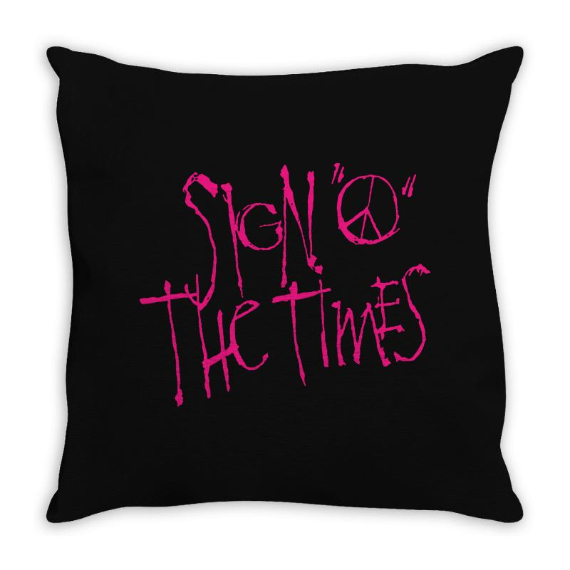 Sign O The Times Throw Pillow | Artistshot