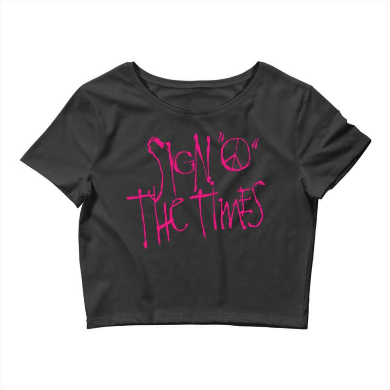 Sign O The Times Crop Top | Artistshot