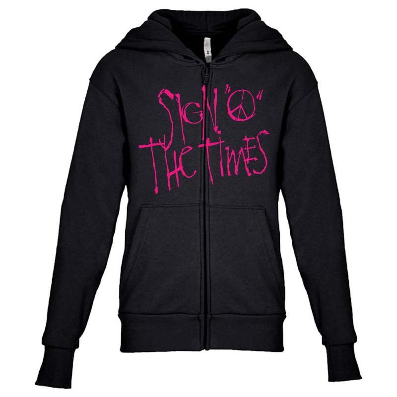 Sign O The Times Youth Zipper Hoodie   Artistshot