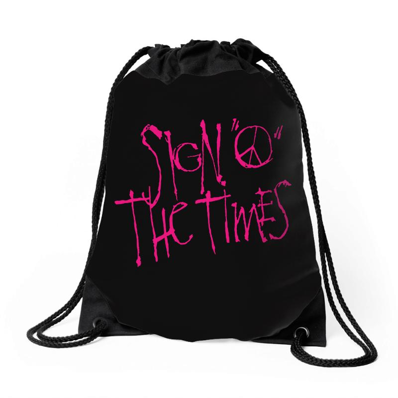 Sign O The Times Drawstring Bags | Artistshot