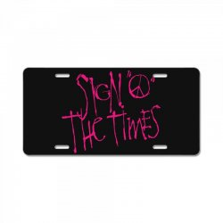 sign o the times License Plate | Artistshot