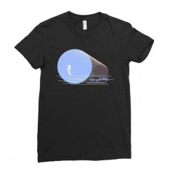 surfing boy abstract Ladies Fitted T-Shirt | Artistshot