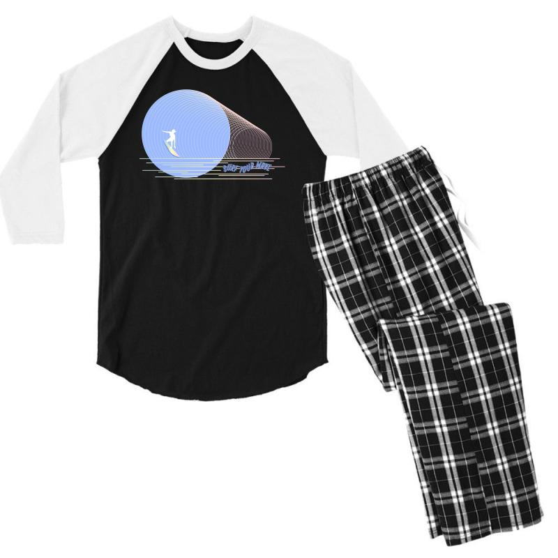 Surfing Boy Abstract Men's 3/4 Sleeve Pajama Set | Artistshot