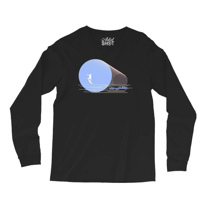 Surfing Boy Abstract Long Sleeve Shirts | Artistshot
