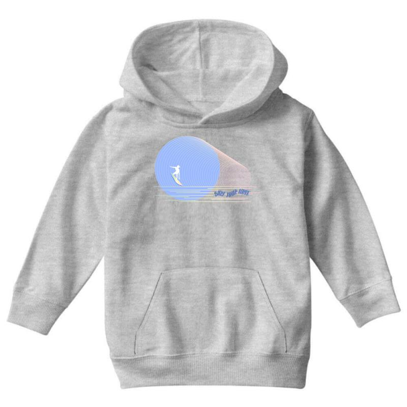 Surfing Boy Abstract Youth Hoodie | Artistshot