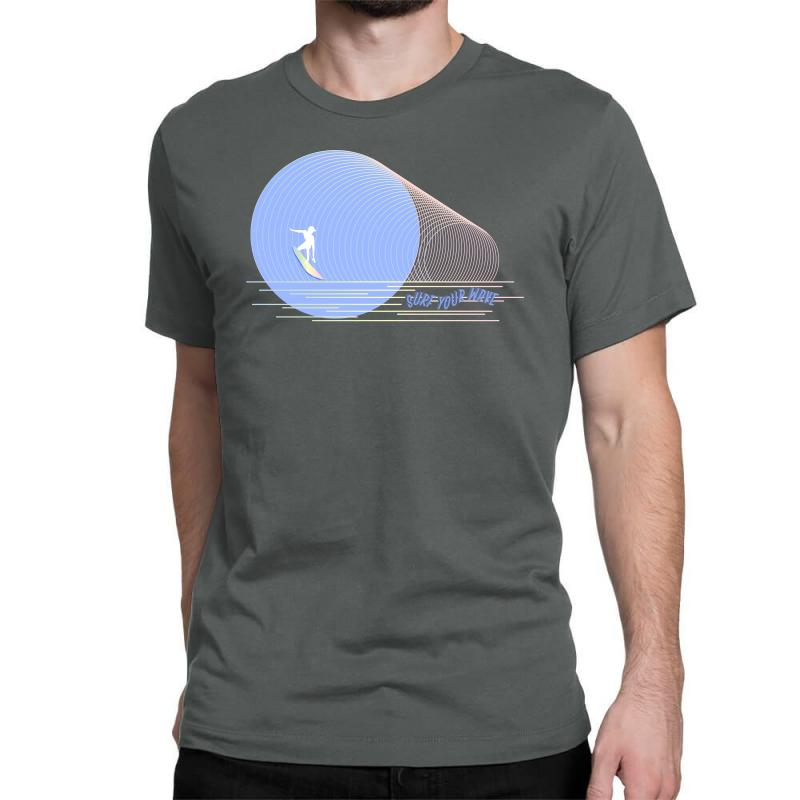 Surfing Boy Abstract Classic T-shirt | Artistshot