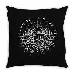 land of living skies Throw Pillow | Artistshot