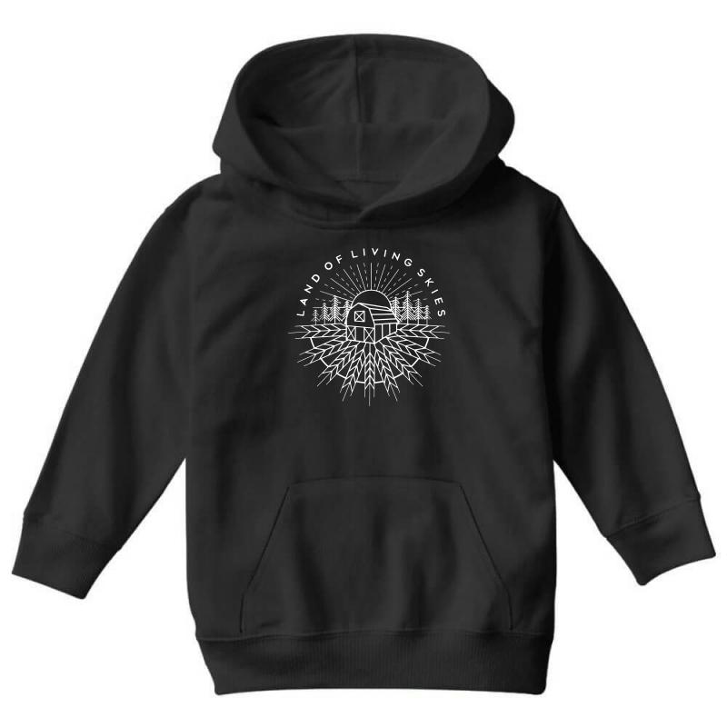 Land Of Living Skies Youth Hoodie | Artistshot
