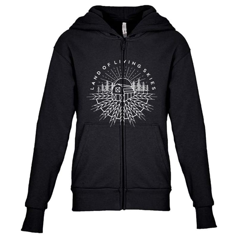 Land Of Living Skies Youth Zipper Hoodie | Artistshot