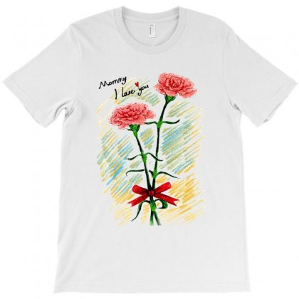Love Mom T-shirt Designed By Vanode Art