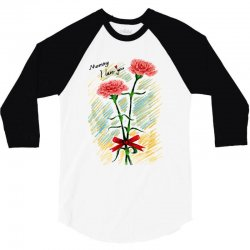 love mom 3/4 Sleeve Shirt | Artistshot