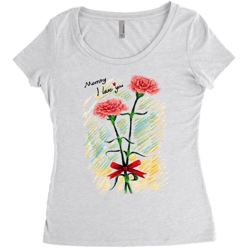 Love Mom Women's Triblend Scoop T-shirt | Artistshot