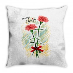 love mom Throw Pillow | Artistshot